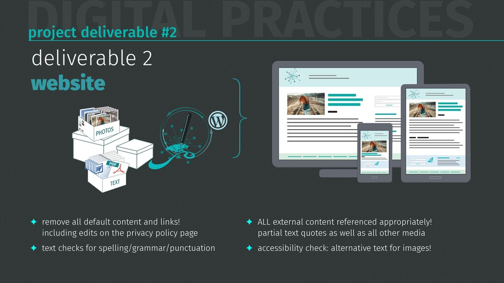 DIGITAL PRACTICES project deliverable #2 TEXT s...