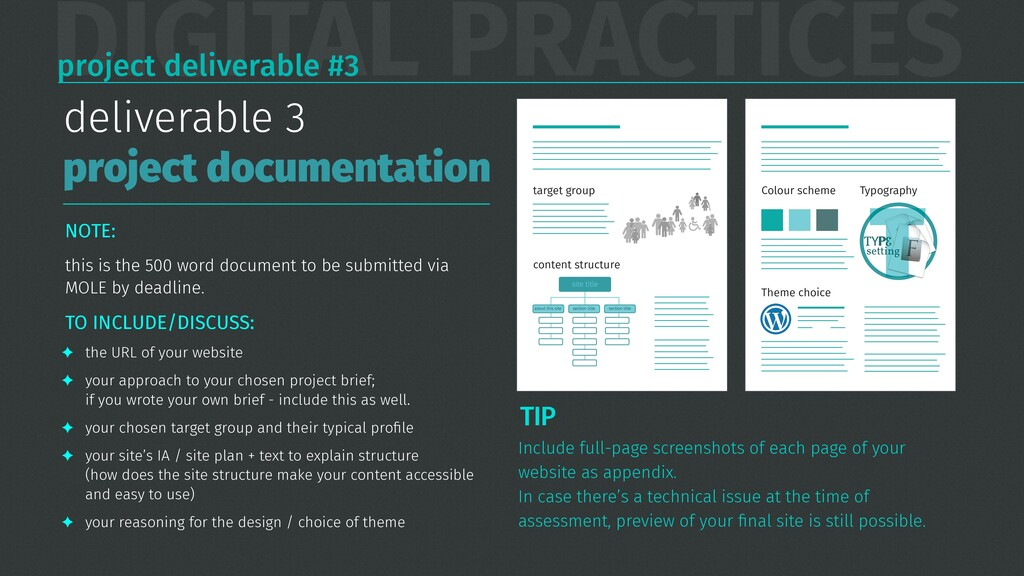 DIGITAL PRACTICES project deliverable #3 NOTE: ...
