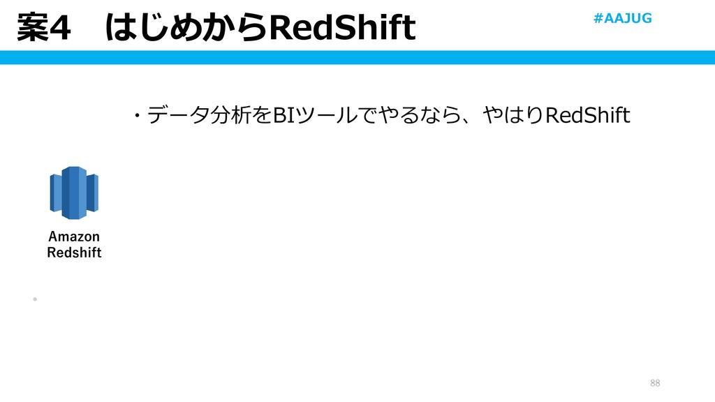 案4 はじめからRedShift 88 ・ Amazon Redshift ・データ分析をBI...