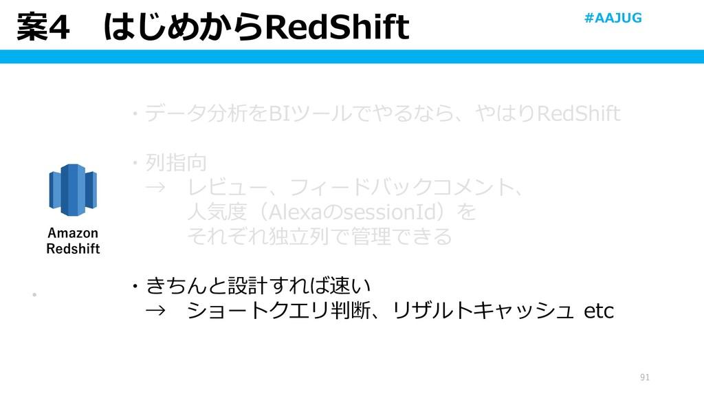 案4 はじめからRedShift 91 ・ Amazon Redshift ・データ分析をBI...