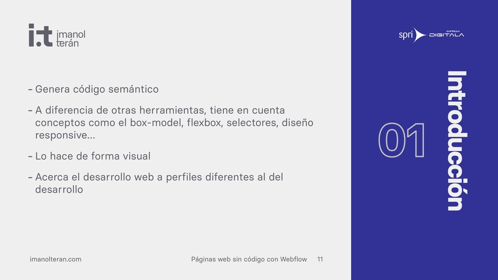 imanolteran.com Páginas web sin código con Webf...