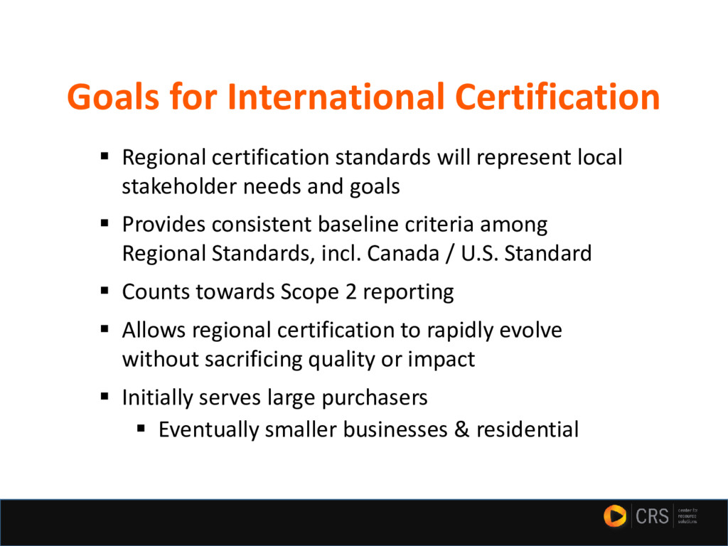 ▪ Regional certification standards will represe...