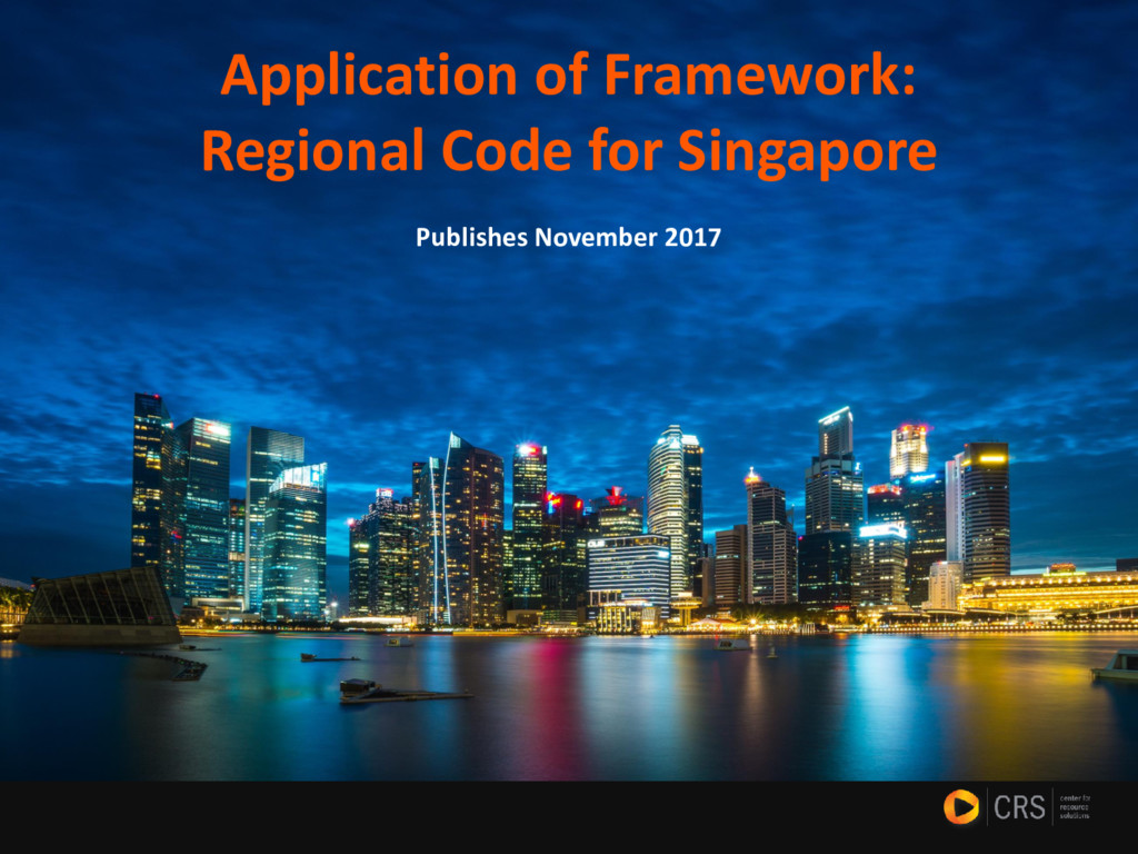 Application of Framework: Regional Code for Sin...