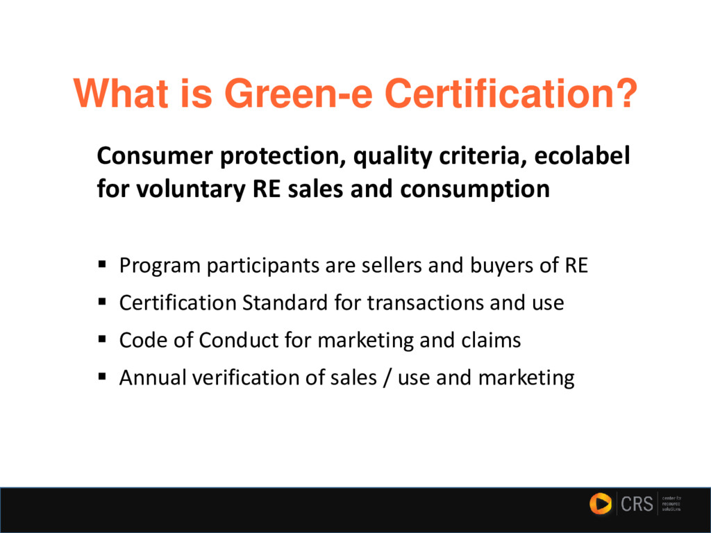 What is Green-e Certification? Consumer protect...
