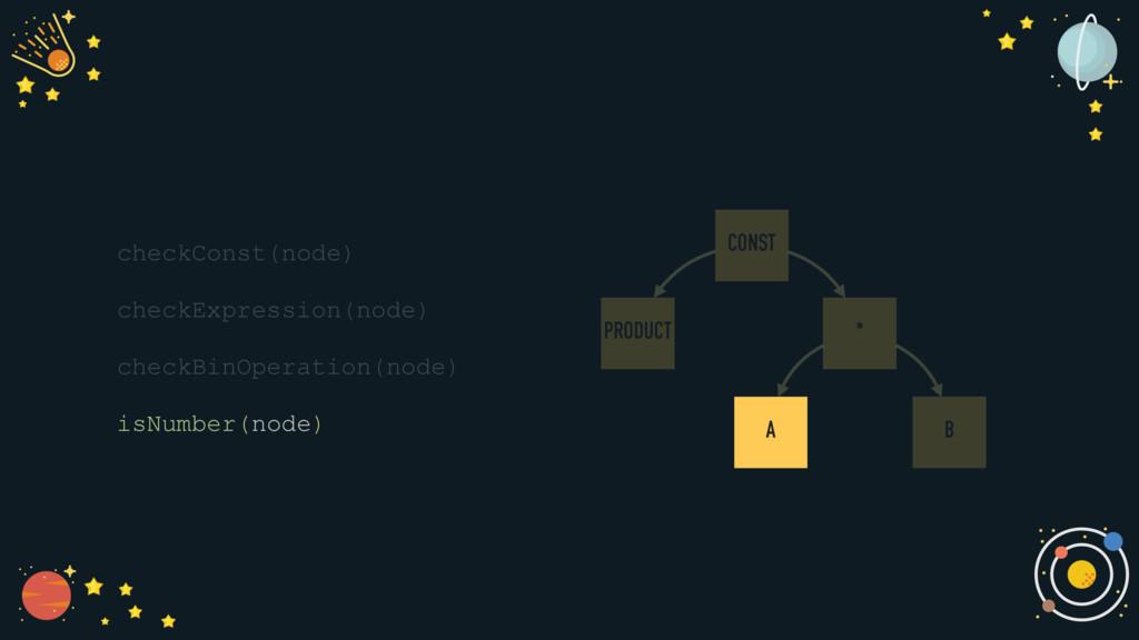 checkConst(node) checkExpression(node) checkBin...