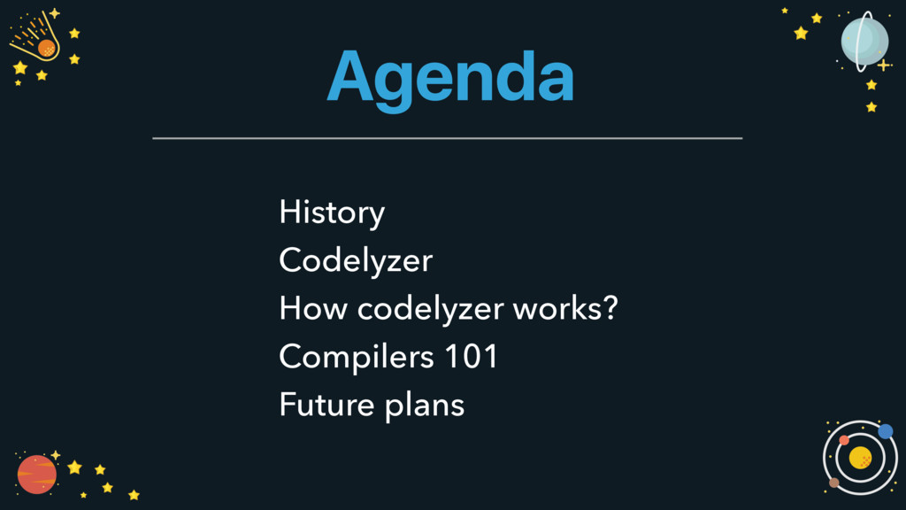 Agenda History Codelyzer How codelyzer works? C...