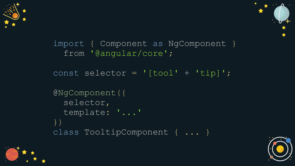 import { Component as NgComponent } from '@angu...