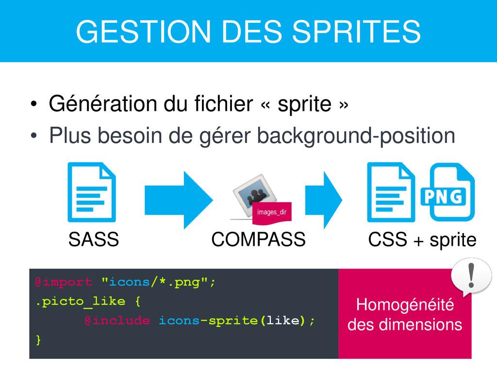 GESTION DES SPRITES • Génération du fichier « s...