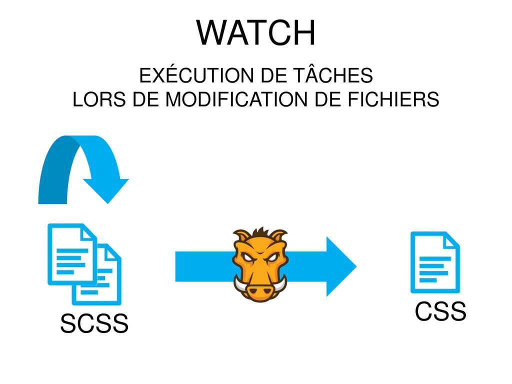 WATCH SCSS CSS EXÉCUTION DE TÂCHES LORS DE MODI...