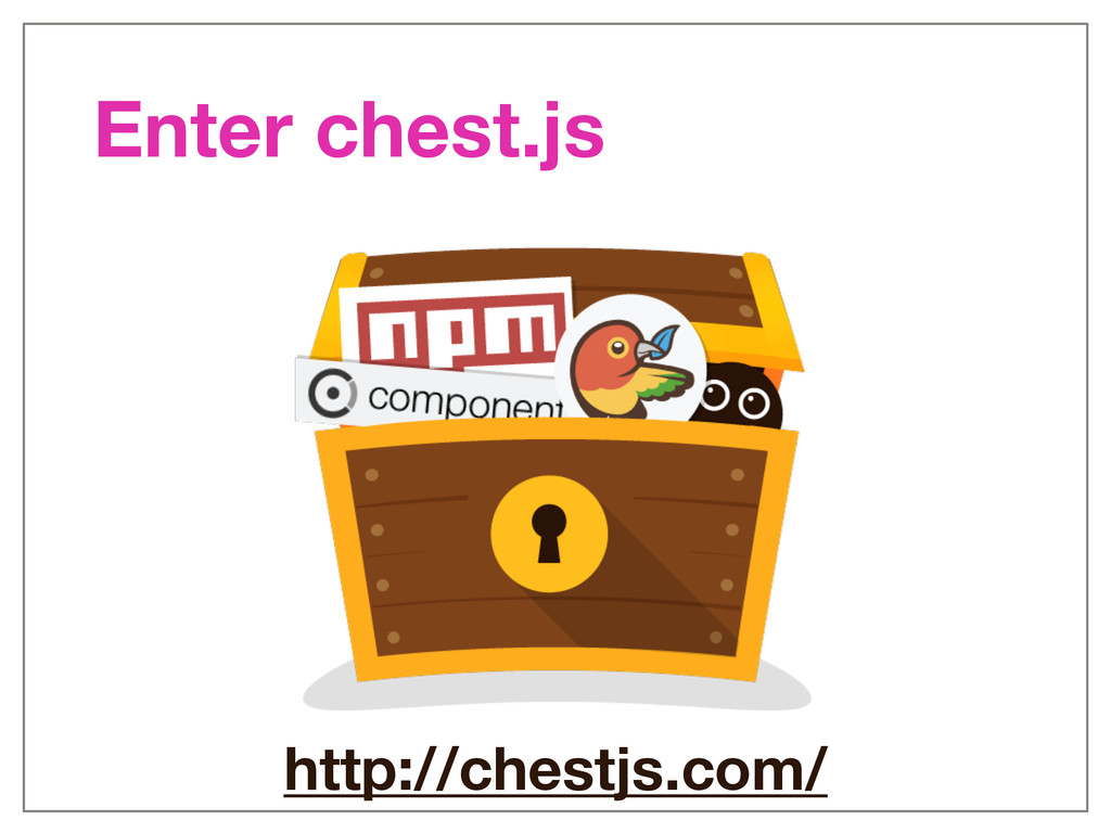 http://chestjs.com/ Enter chest.js