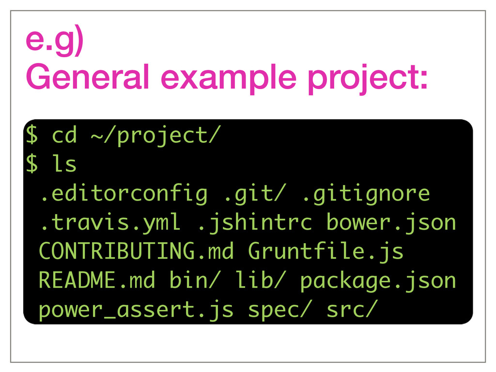 e.g)