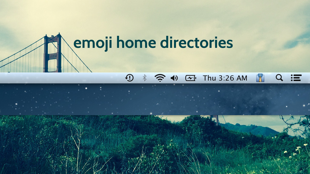 emoji home directories