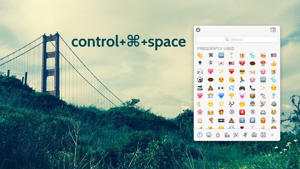 control+⌘+space