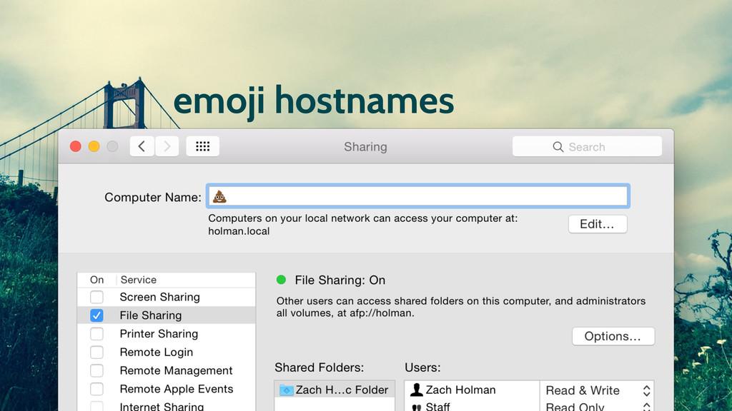 emoji hostnames