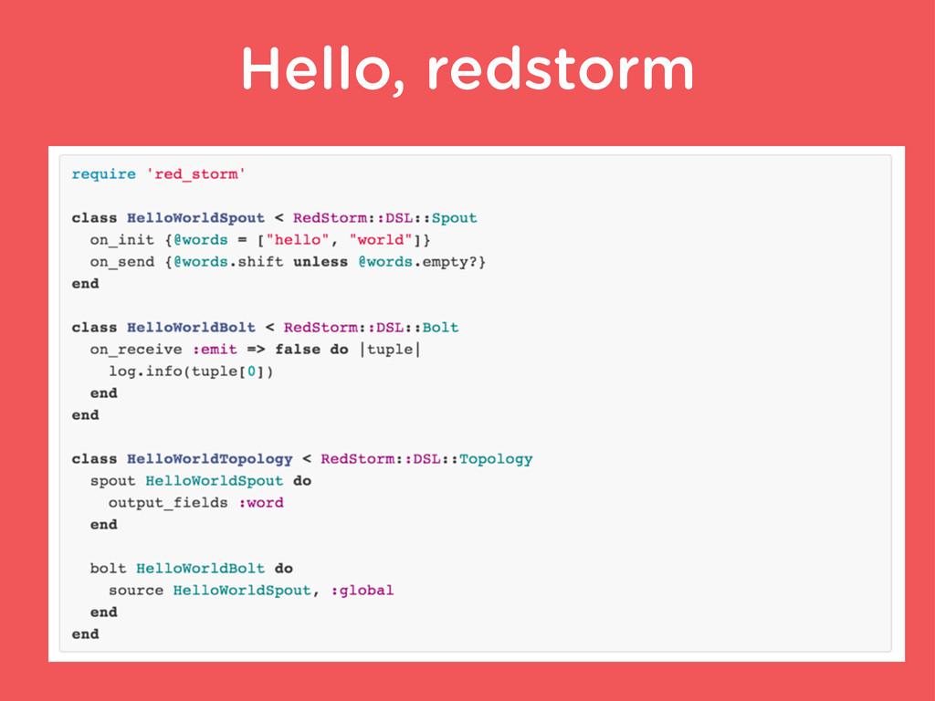 Hello, redstorm
