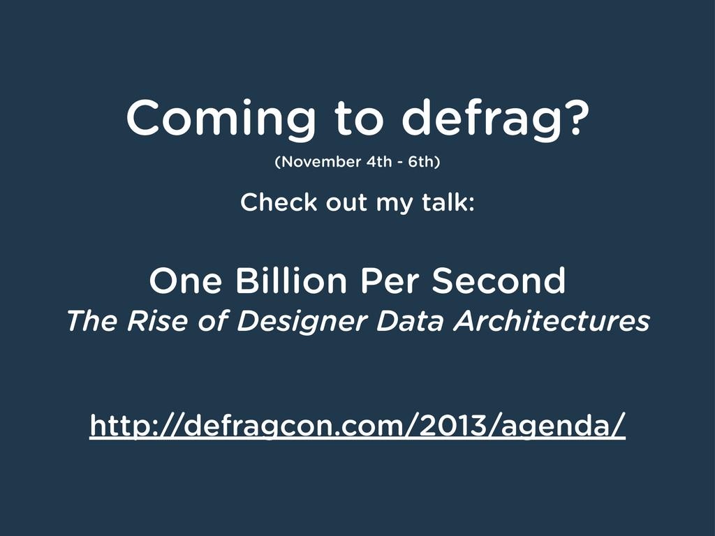 Coming to defrag? (November 4th - 6th) Check ou...