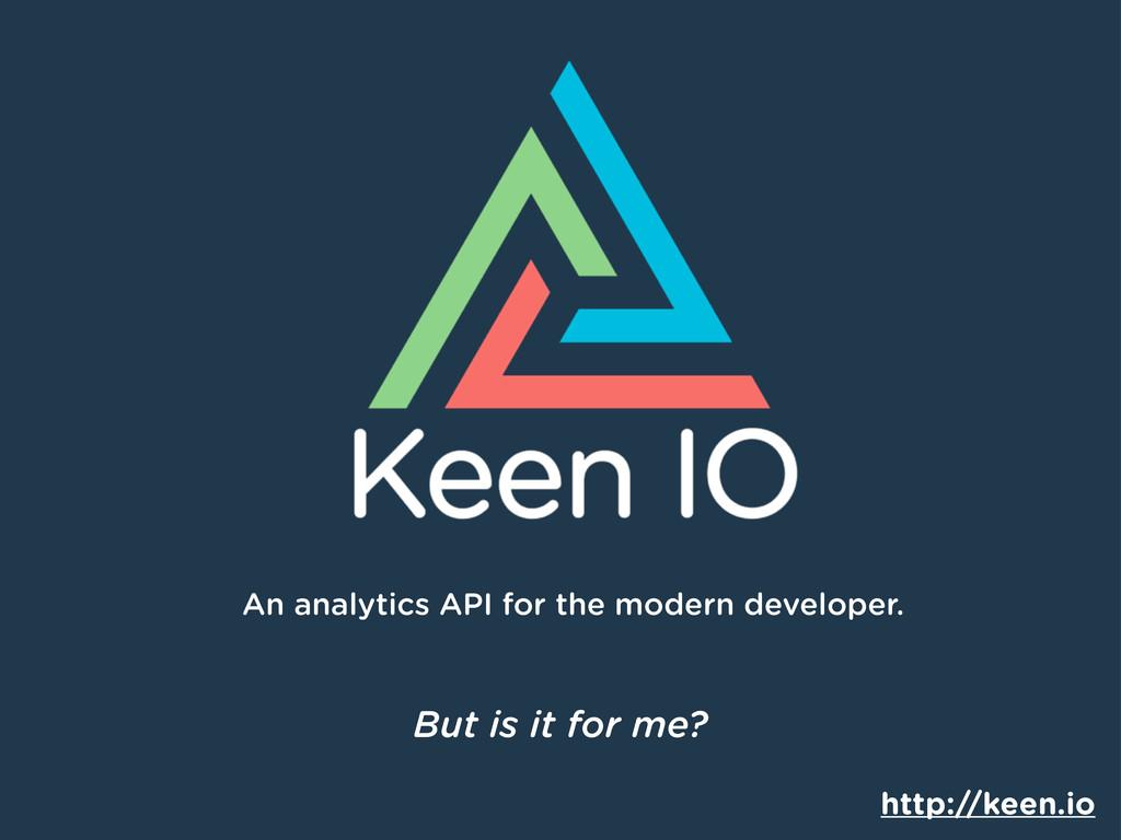 An analytics API for the modern developer. http...