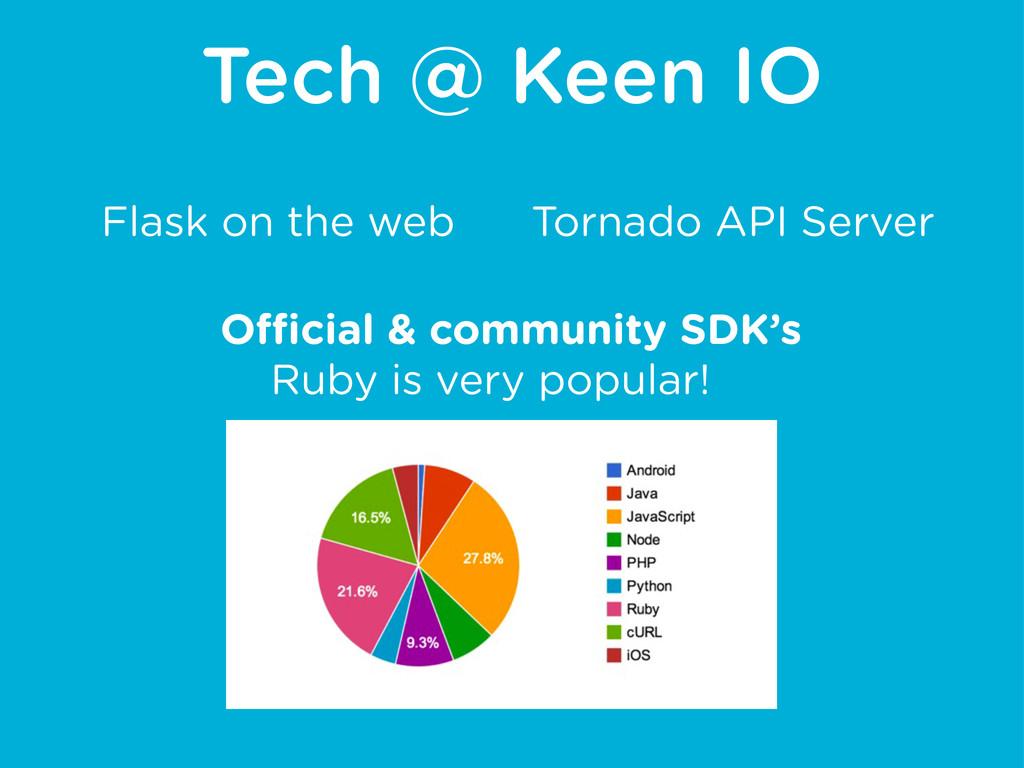 Tech @ Keen IO Tornado API Server Flask on the ...