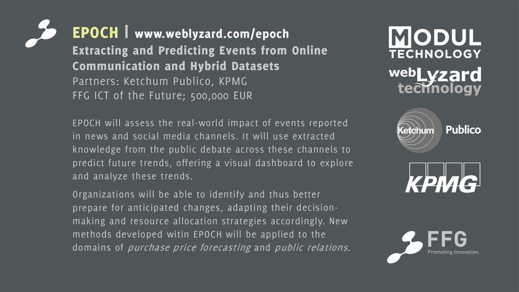 11 EPOCH | www.weblyzard.com/epoch Extracting a...