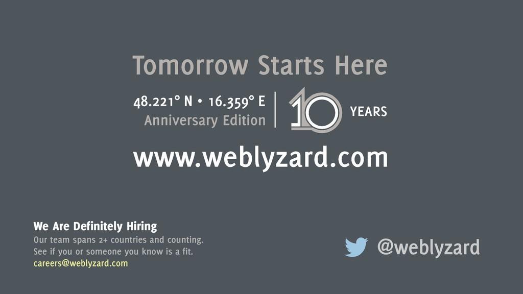 12 @weblyzard We Are Definitely Hiring Our team...