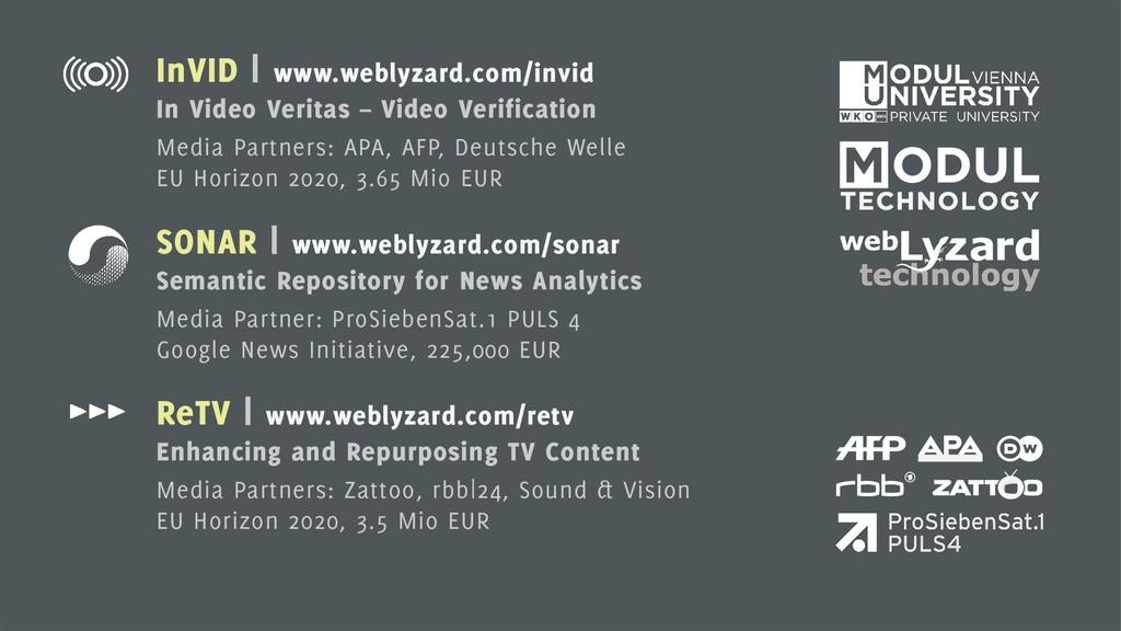 10 InVID | www.weblyzard.com/invid In Video Ver...