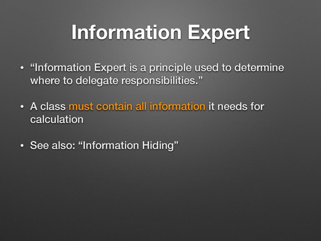 "Information Expert • ""Information Expert is a p..."