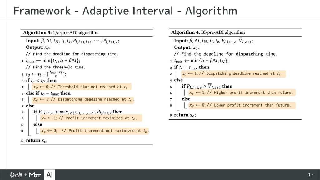 17 Framework - Adaptive Interval - Algorithm