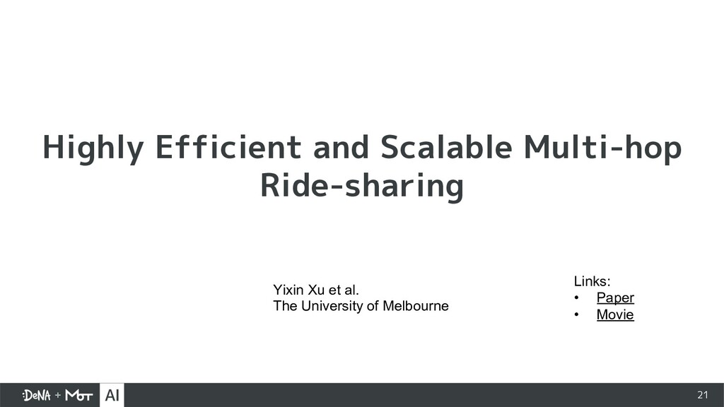 21 Highly Efficient and Scalable Multi-hop Ride...