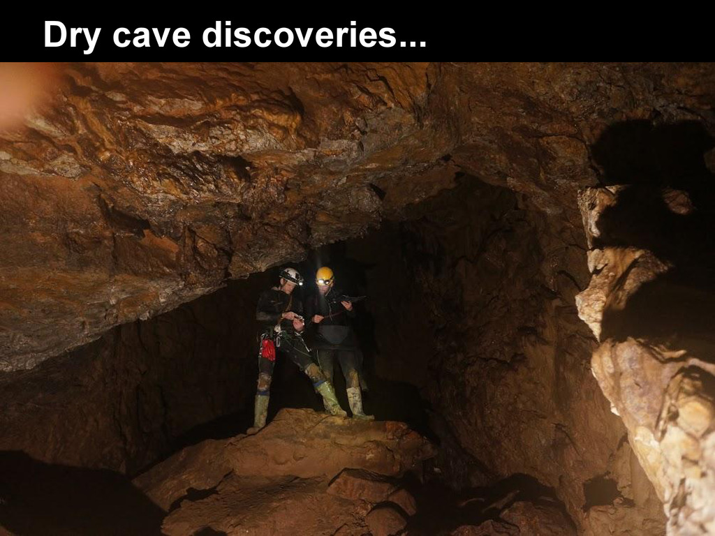 Dry cave discoveries...