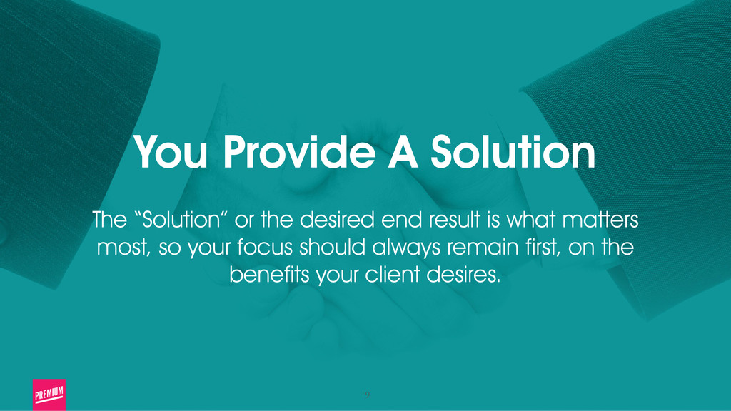 """19 You Provide A Solution ! The """"Solution"""" or t..."""