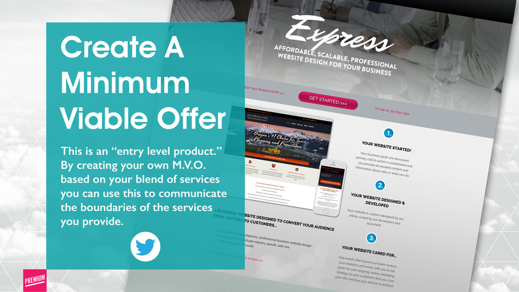 """Create A Minimum Viable Offer This is an """"entry..."""