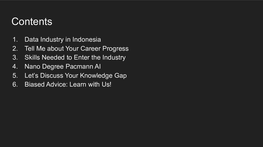 Contents 1. Data Industry in Indonesia 2. Tell ...