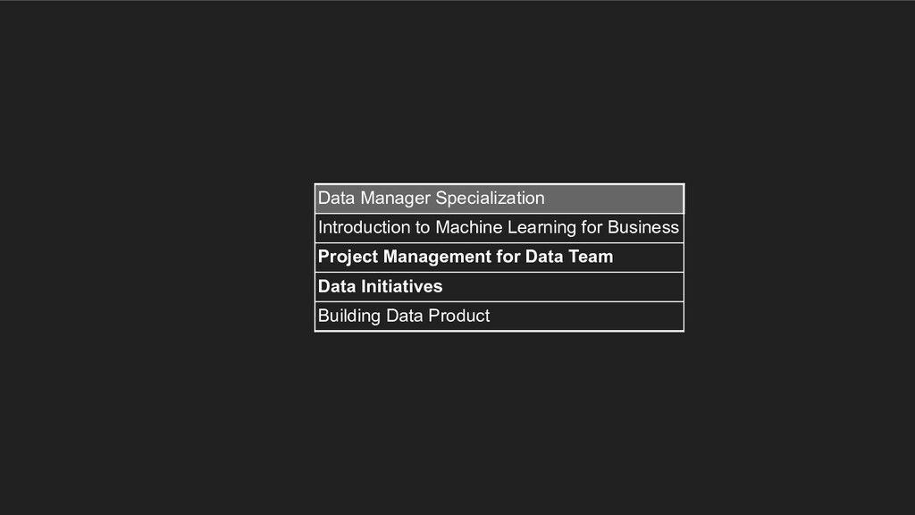 Data Manager Specialization Introduction to Mac...