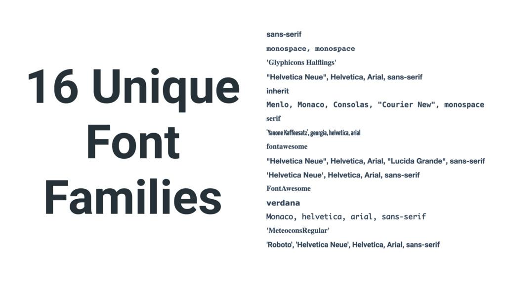 16 Unique Font Families