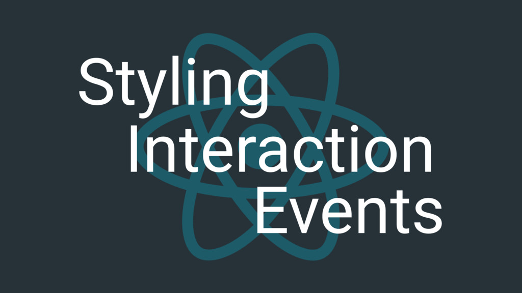 Styling Interaction Events