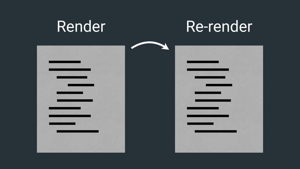 Render Re-render