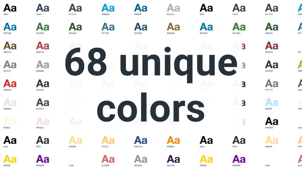 68 unique colors