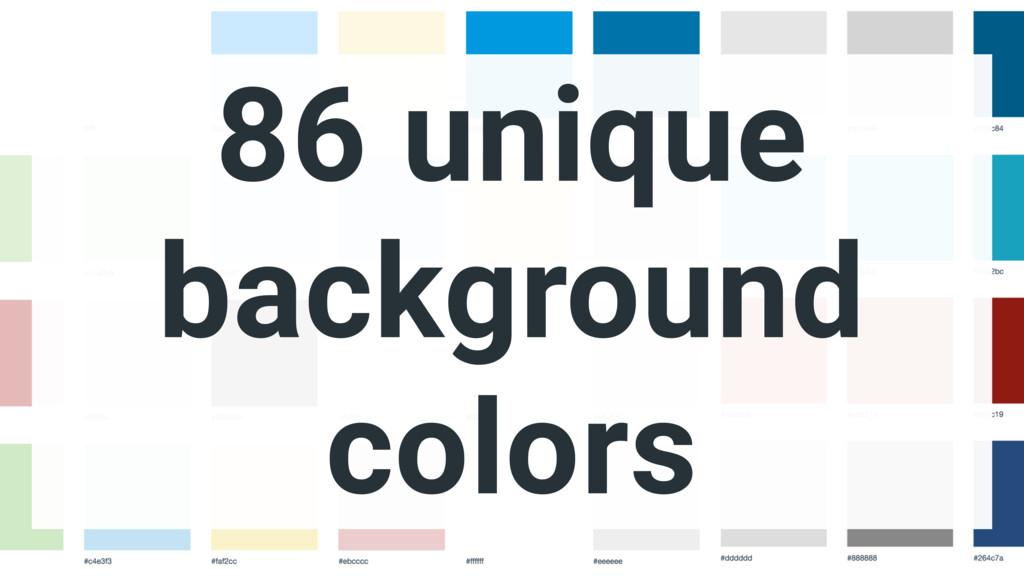 86 unique background colors