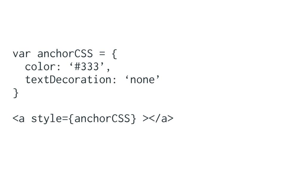 var anchorCSS = { color: '#333', textDecoration...