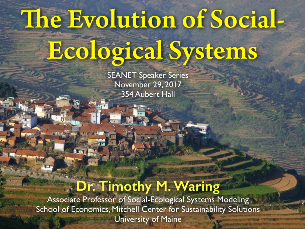 Dr. Timothy M. Waring Associate Professor of So...
