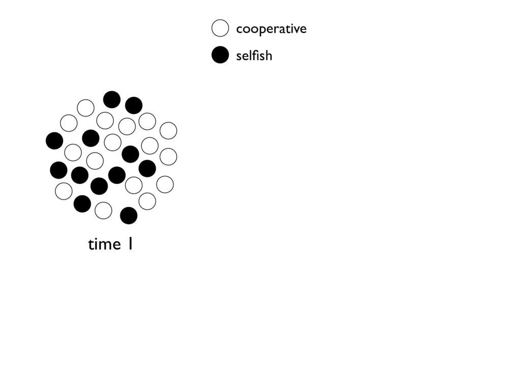 cooperative selfish time 1