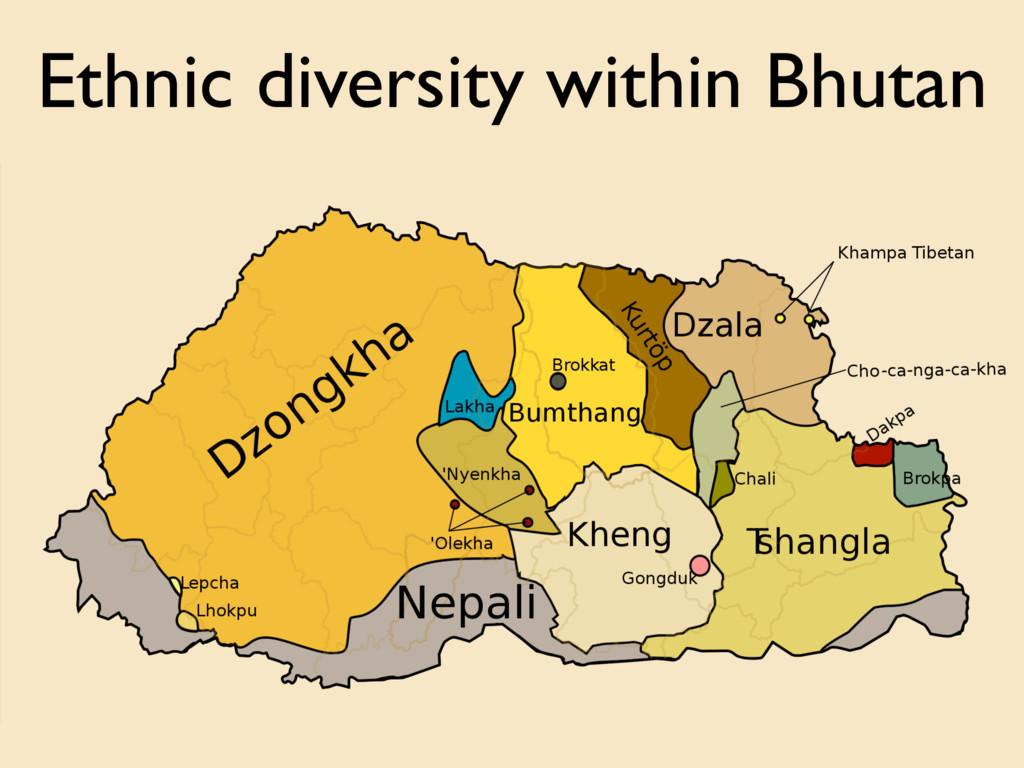 Ethnic diversity within Bhutan