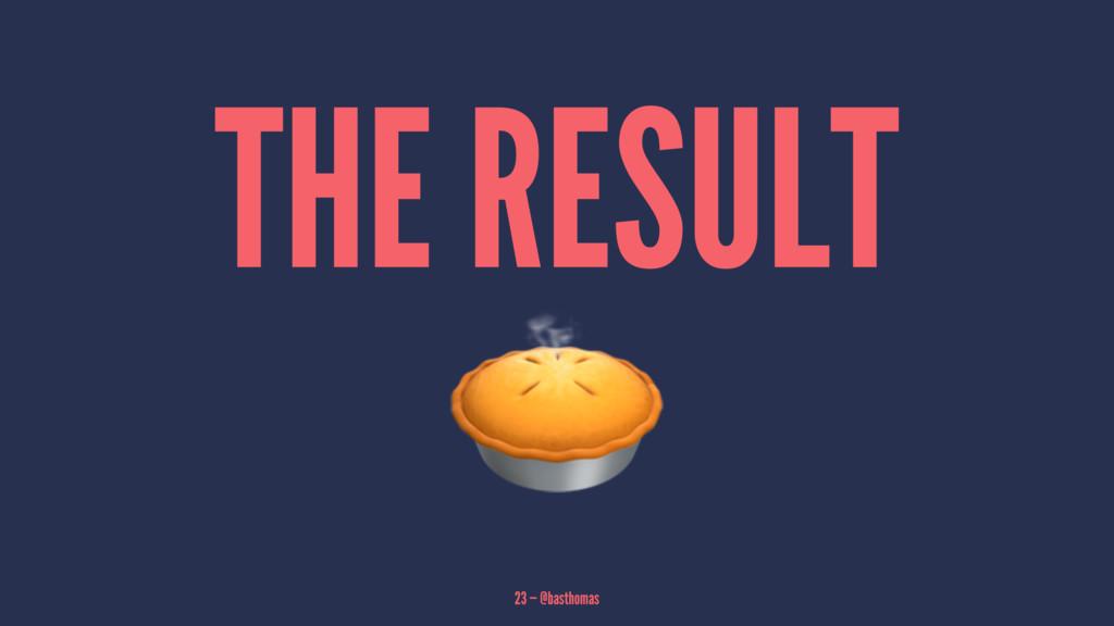 THE RESULT! 23 — @basthomas