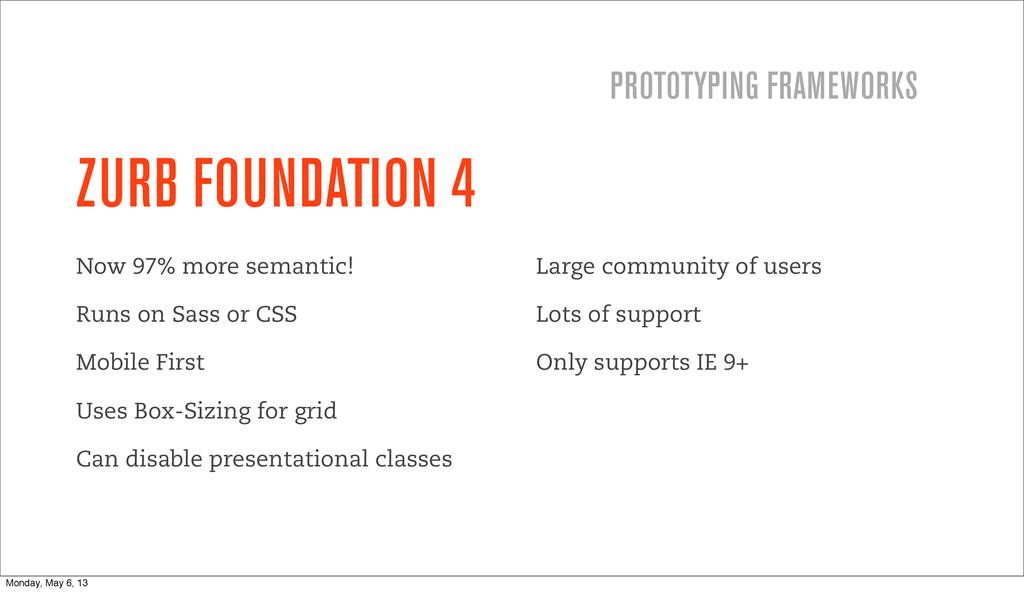 ZURB FOUNDATION 4 Now 97% more semantic! Runs o...