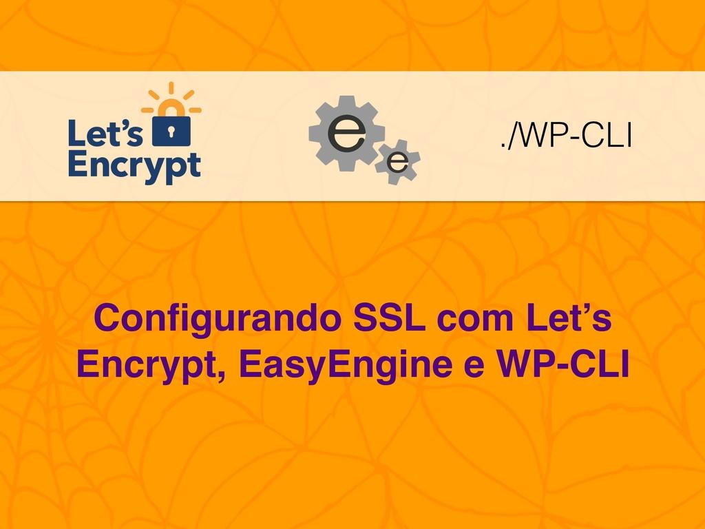 Configurando SSL com Let's Encrypt, EasyEngine e...
