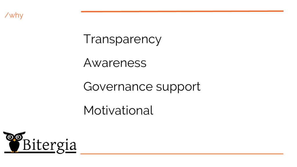 /why Transparency Awareness Governance support ...