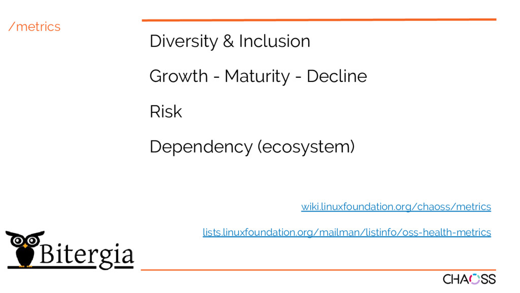 /metrics Diversity & Inclusion Growth - Maturit...