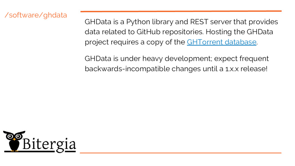/software/ghdata GHData is a Python library and...