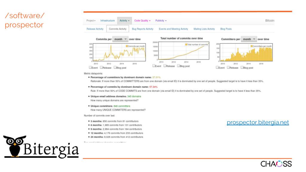 /software/ prospector prospector.bitergia.net