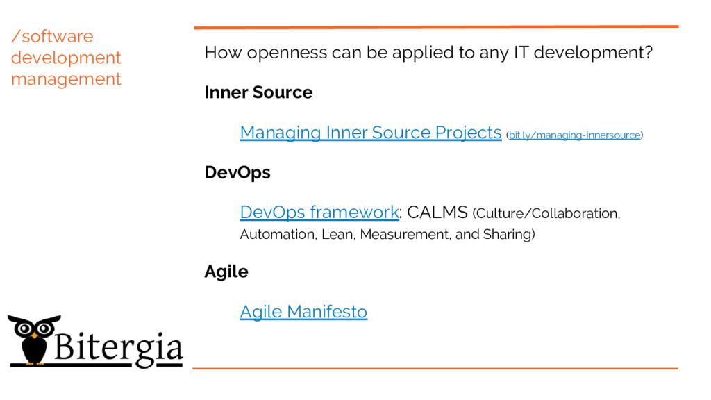 /software development management How openness c...